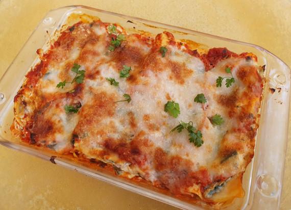 Vegetarische lasagne met prei, ricotta en spinazie